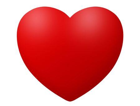 sweet heart: Heart icon illustration isolated on white