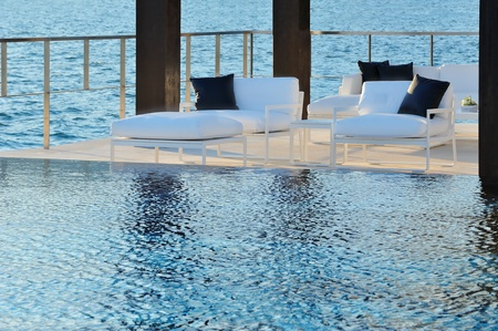Infinity pool side Banque d'images