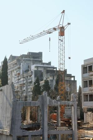 demolish: Demolish old and building new