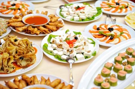 buffet: Lijst met voedsel