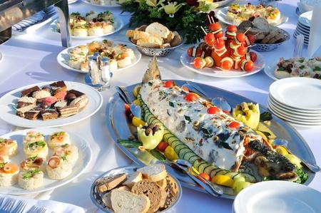 Tasty food on the table  photo