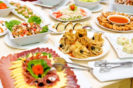 catering service: Table with delicious food