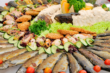 Seafood catering photo