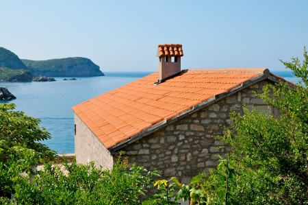 Stone house with beautiful view on Adriatic sea  photo