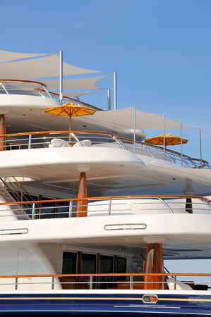 monaco: Luxury motor yacht decks