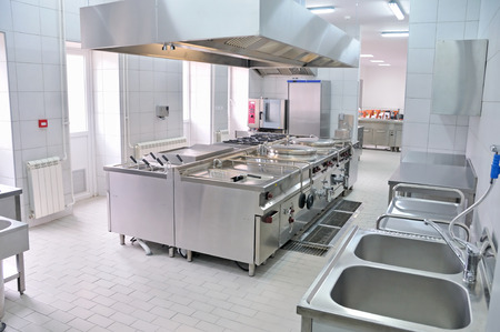 stainless steel kitchen: Professional kitchen interior