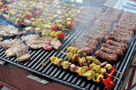 carnes: Carne y verduras Barbacoa