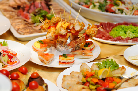 Food on the party Banque d'images