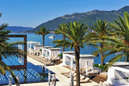 montenegro: Swimming pool at luxury resort Editorial
