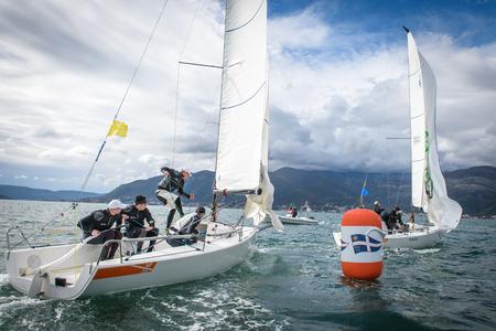 Sailboats on regatta