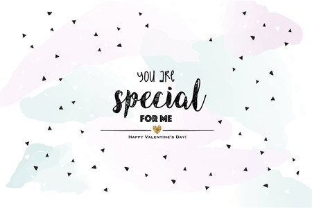 You are special for me. Blue lovely Valentines card