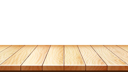 Wooden Stand Or Apartment Parquet Floor Vector. House Room Wooden Flooring, Hardwood Panel. Natural Light Wood Material Boards Interior, Carpentry Template Realistic 3d Illustration