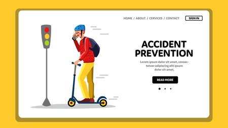 Accident Prevention Inattentive Driver Vector 矢量图像