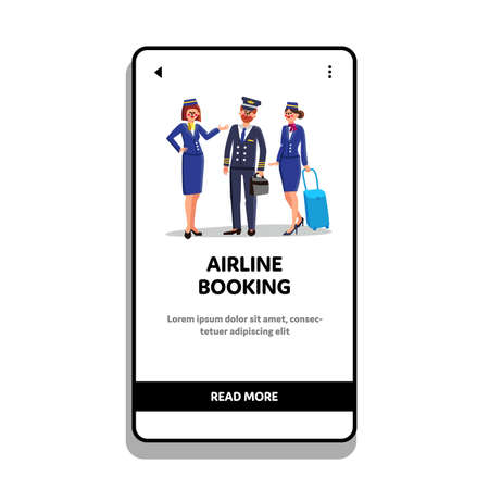 Airline Booking Service For Flying Travel Vector Stock Illustratie