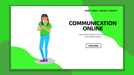 Communication Online Business Conference Vector