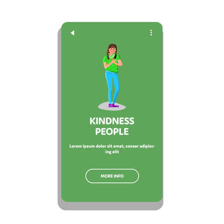 Kindness People For Friendly Help And Aid Vector