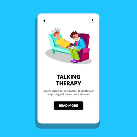 Talking Therapy Session Psychiatry Cabinet Vector