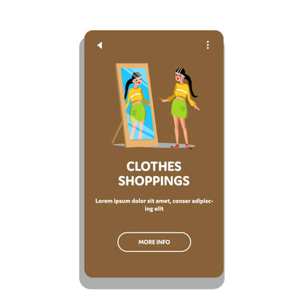 Clothes Shopping In Fashionable Luxury Shop Vector