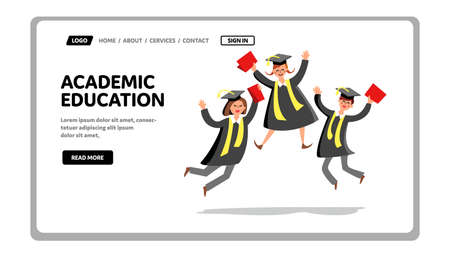 Academic Education Graduate Celebration Vector