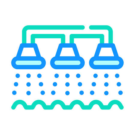 watering irrigation system color icon vector illustration Vector Illustratie