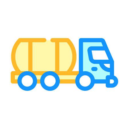 liquid transportation truck color icon vector illustration Illusztráció