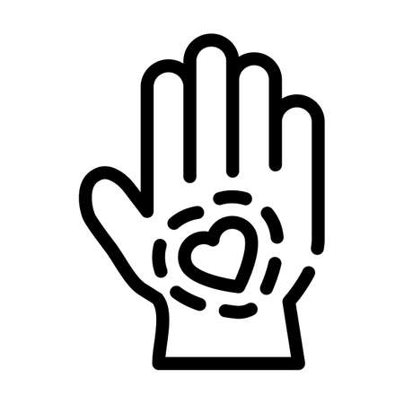 healthy hand skin line icon vector illustration