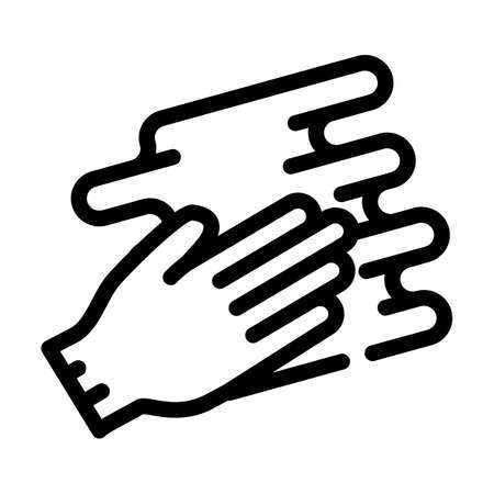 hand spreading cream line icon vector illustration 向量圖像