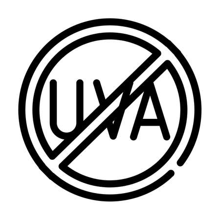 uva crossed out mark line icon vector illustration