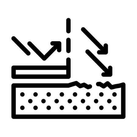 sun protection cream layer line icon vector illustration