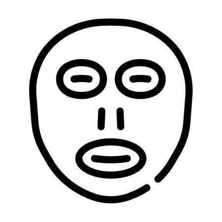 facial sunscreen mask line icon vector illustration 向量圖像