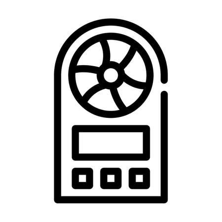 anemometer measuring equipment line icon vector illustration Ilustración de vector