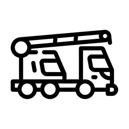 mobile crane line icon vector isolated illustration