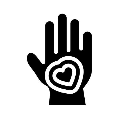 healthy hand skin glyph icon vector illustration