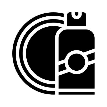 sun protective skin bottle glyph icon vector illustration 向量圖像