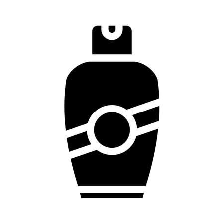 cream bottle glyph icon vector isolated illustration