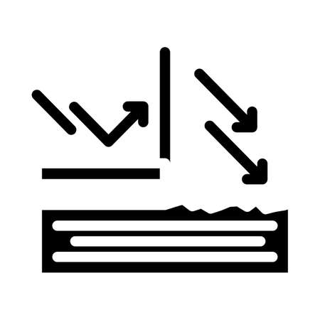 sun protection cream layer glyph icon vector illustration