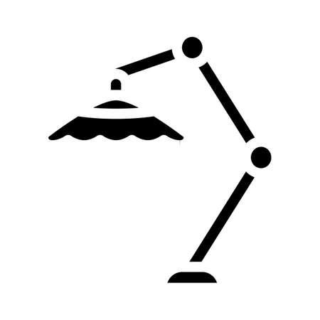 beach umbrella glyph icon vector isolated illustration
