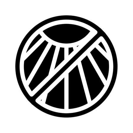 anti sun protection glyph icon vector illustration