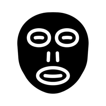 facial sunscreen mask glyph icon vector illustration