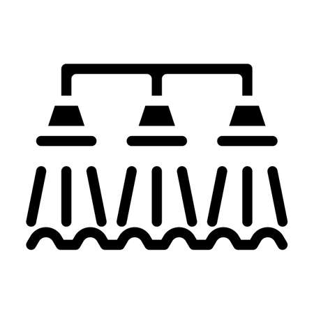 watering irrigation system glyph icon vector illustration