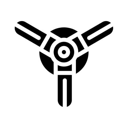 water irrigation sprayer glyph icon vector illustration