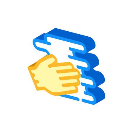 hand spreading cream isometric icon vector illustration 向量圖像
