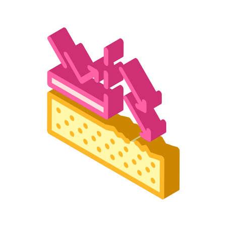 sun protection cream layer isometric icon vector illustration 向量圖像