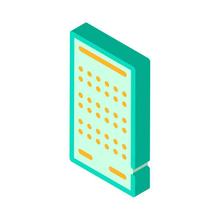 lottery card isometric icon vector isolated illustration