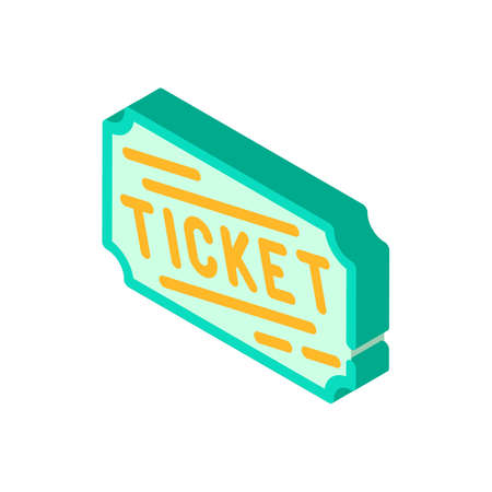 lottery ticket isometric icon vector isolated illustration