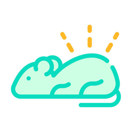 luminous mouse color icon vector isolated illustration 일러스트