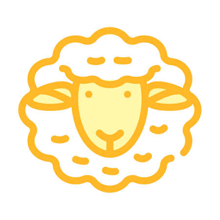 dolly sheep clone color icon vector illustration