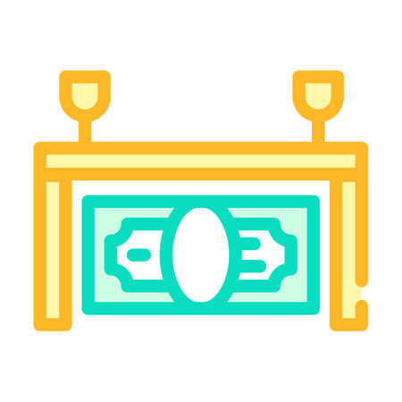 win soccer team money color icon vector illustration