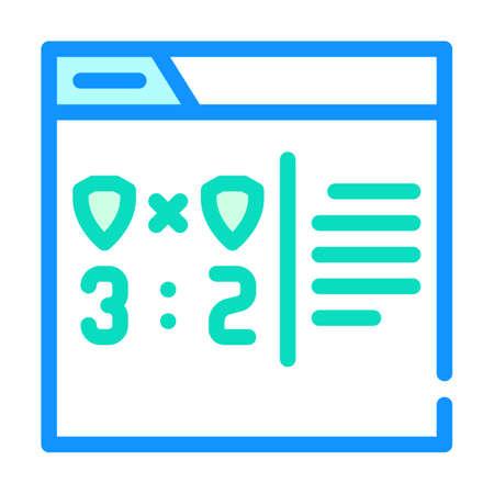 online game score color icon vector illustration