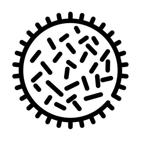 unhealthy bacteria line icon vector isolated illustration